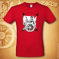 T-shirt Zagor Odissea americana - Rossa